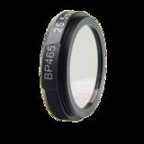 LFT-BP465-M27, Narrow bandpass filter,  465nM Peak wavelenght, useful range between 442-494nM _