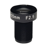 "LENS M12 10MP 25MM F2.5 for max sensorsize 2/3"" NON DISTORTION"