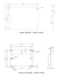 Boardlevel camera dimensions