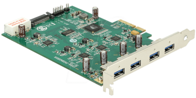Adapter PCIe4x - 4x USB3.0 - quad bus