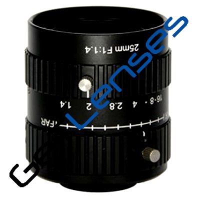 """LCM-10MP-25MM-F1.4-1-ND1, LENS C-mount 10MP 25MM F1.4 1"""" NON DISTORTION"""
