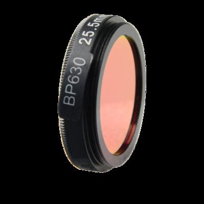 LFT-BP630-M30.5, Narrow bandpass filter,  630nM Peak wavelenght, useful range between 610-648nM