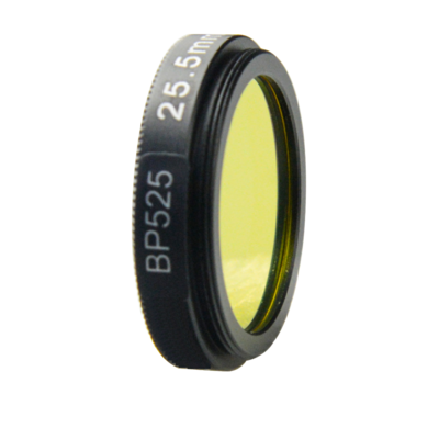 LFT-BP525-M30.5, Narrow bandpass filter,  525nM Peak wavelenght, useful range between 508-556nM
