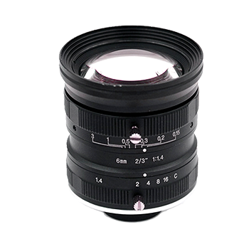 """LCM-5MP-06MM-F1.4-1.5-ND1, LENS C-mount 5MP 6MM F1.4 2/3"""" NON DISTORTION"""