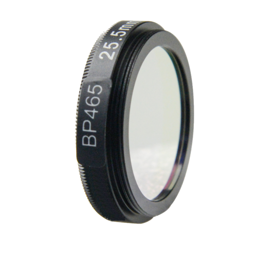 LFT-BP465-M27, Narrow bandpass filter,  465nM Peak wavelength, useful range between 442-494nM