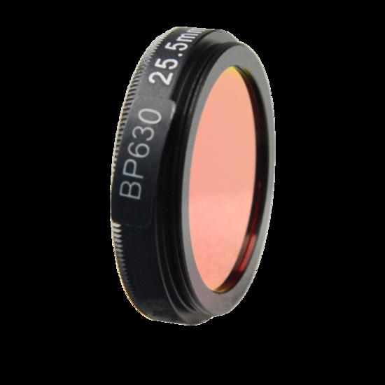 LFT-BP630-M25.5, Narrow bandpass filter,  630nM Peak wavelenght, useful range between 610-648nM
