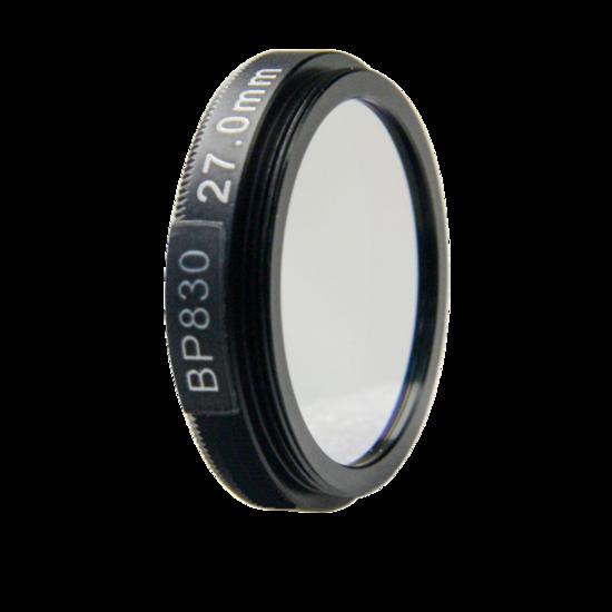 LFT-BP830-M25.5, Narrow bandpass filter,  830nM Peak wavelenght, useful range between 802-868nM