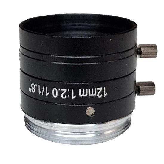 LCM-5MP-12MM-F2.0-1.8-ND1, LENS C-mount 5MP 12MM F2.0 1/1.8