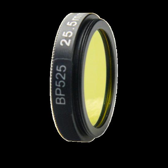 LFT-BP525-M35.5, Narrow bandpass filter,  525nM Peak wavelength, useful range between 508-556nM