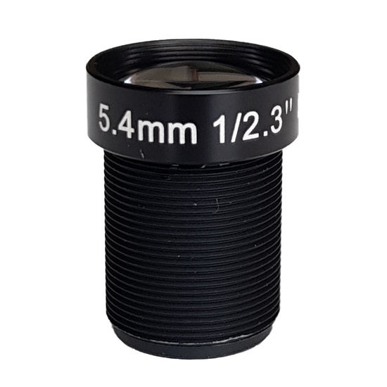 LM12-10MP-05MM-F2.5-2.3-ND1, LENS M12 10MP 5.4MM F2.5 1/2.3