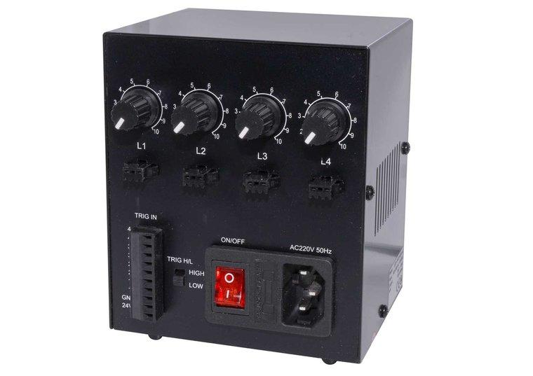 Powersupply / light controller, 4 Channels, 24V/60W, Din rail