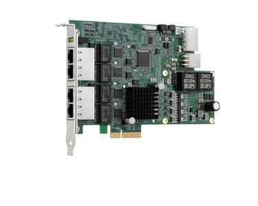 Adapter PCIe4x - 4x GigE PoE- quad bus