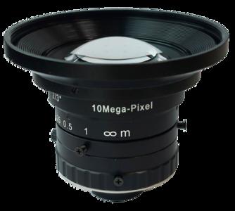 "LENS C-mount 10MP 05MM F1.8 for max sensorsize 2/3"" LOW DISTORTION"