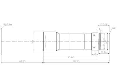 LCM-TELECENTRIC-0.75X-WD65-1.5-NI