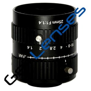 "LENS C-mount 10MP 25MM F1.4 for max sensorsize 1"" NON DISTORTION"