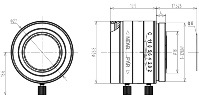 Mechanical Drawing LCM-5MP-12MM-F2.0-1.8-ND1