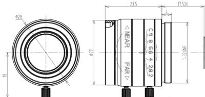 Mechanical Drawing LCM-25MM-F2.0-1.8-ND1
