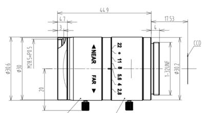 Mechanical Drawing LCM-5MP-F2.0-1.8-ND1
